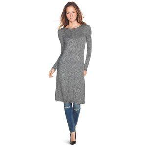 WHBM Heathered Grey Lightweight Sweater Tunic